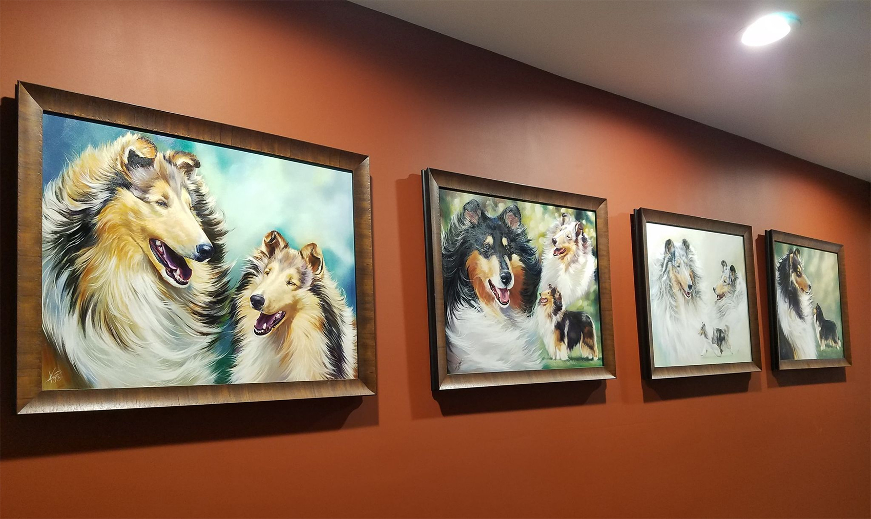 Collies framed
